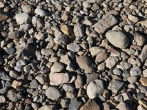 A Patagonian rocky river bed stock photo