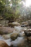 Rocky river at Sabbaday Falls Stock Image