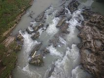 Rocky river with sustain flow Stock Images