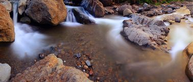 Rocky River and Waterfall Royalty Free Stock Photos