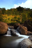 Rocky River and Waterfall Royalty Free Stock Photography