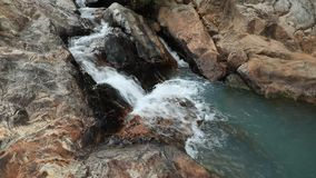 Rocky River Waterfall Vietnam stock footage