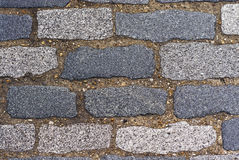 Rocky road. Detail of a road made of stone bricks Stock Photo