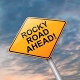 Rocky road ahead. Stock Photo