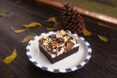 Rocky Road Brownie Image stock
