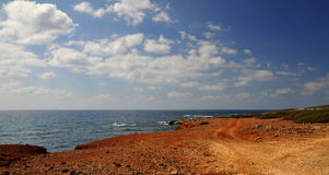 Rocky road in Cyprus Royalty Free Stock Photos