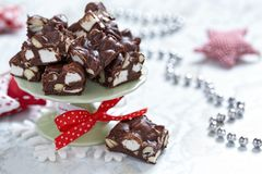Rocky road fudge Stock Photography