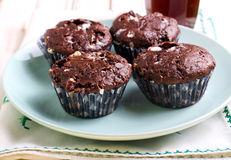 Rocky road muffins Stock Image