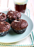 Rocky road muffins Stock Images