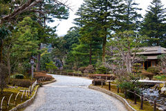 Rocky Road in the Park. A rocky road inside Kenrokuen Park, Kanazawa, Japan Royalty Free Stock Photography