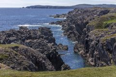 Rocky Newfoundland coastline near Bonavista Stock Photo
