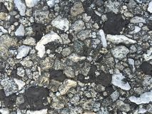 Rocky rumble. Rocks and stones collected together in a pile Royalty Free Stock Images