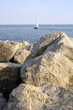 Rocky Sailboat Sightings 2 Royalty Free Stock Image