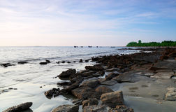 Rocky Saint Martins Island of Bangladesh Stock Image