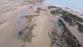 Rocky and sandy Beach stock footage