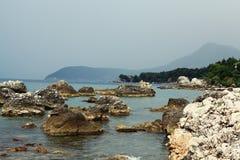 Rocky sea beach Stock Photo