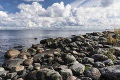 Rocky sea beach. Rocky outer archipelago beach at Utö, Finland Royalty Free Stock Photo