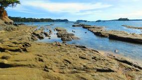 Rocky sea beach Royalty Free Stock Photo