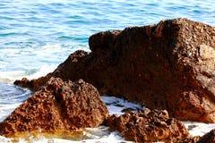Rocky sea beach Stock Photography