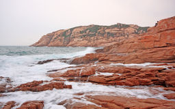 Rocky sea coast Stock Images