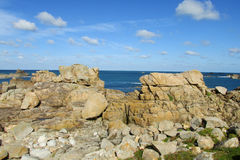 Rocky sea coast beautiful view Stock Image
