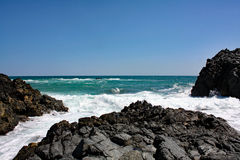Rocky Sea Coast#7: Masirah Island, Oman royalty free stock image