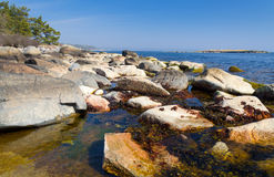 Rocky sea coast Royalty Free Stock Image