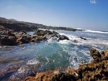Rocky sea shore royalty free stock photography