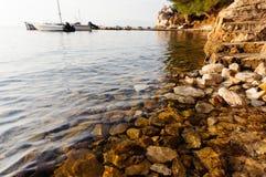 Rocky sea shore Stock Photography