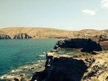 Rocky sea shore. Image of a rocky sea shore on the Greek Island of Milos Royalty Free Stock Photography