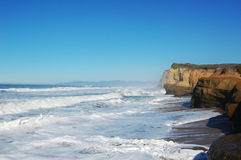 Rocky Sea shore in Santa Cruz, California royalty free stock photos