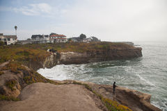 Rocky Sea shore in Santa Cruz, California Royalty Free Stock Photo