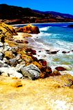 Rocky sea side. A view of a rocky seaside in malibu california Stock Images