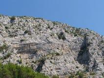 Rocky Seacost i Kroatien Arkivfoto