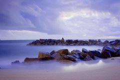 Rocky seascape Royalty Free Stock Images