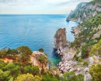 Rocky seascape of Crimea, Ukraine. Rocky beach of Crimea, view over the sea Stock Photo