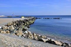 Rocky seashore. Of olimp youth sea resort near constanta in romania Royalty Free Stock Photo