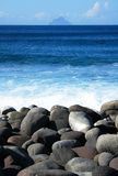 Rocky seashore Stock Photos