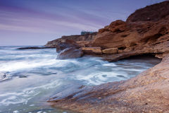Rocky seashore Stock Images