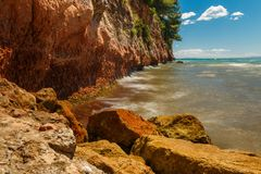 rocky seashore Obraz Royalty Free