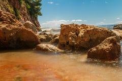 rocky seashore Zdjęcia Stock