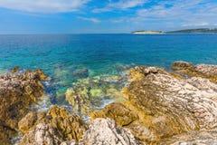 Rocky seashore in Croatia Stock Image