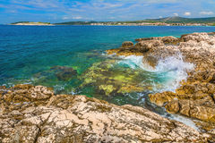 Rocky seashore in Croatia Stock Photography