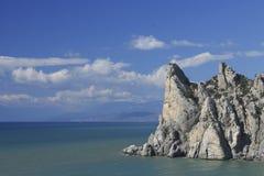 Rocky seashore on fine autumn days. In Ukraine, Crimea, September 16, 2013 Stock Image