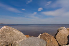 Rocky seashore of Ladoga Royalty Free Stock Photos