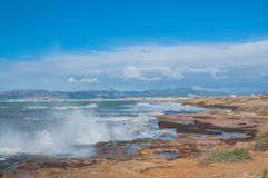 Rocky seashore. Outside Palma de Mallorca Royalty Free Stock Images