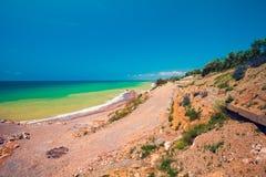 Rocky seashore Stock Images