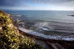 Rocky seashore in Piombino Royalty Free Stock Photography