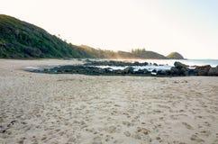 Rocky seashore on Shelly Beach at Port Macquarie Australia Royalty Free Stock Photography