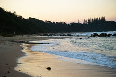 Rocky seashore on Shelly Beach at Port Macquarie Australia Stock Photography